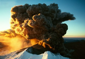 Mt Ruapehu erupting. Photo Craig Potton. http://www.prints.co.nz/page/fine-art/PROD/8973