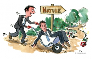 Don't wait until this state for a break. Drawn by Fritz Ahlefeldt